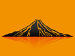 Vector illustration. Volcano. - 81116438
