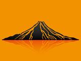Vector illustration. Volcano.