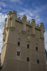 Defense, alcazar castle city of Segovia, Spain. Old town of Roma