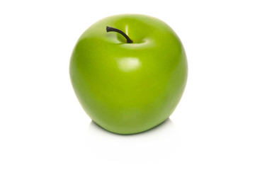 Green apple isolated on white