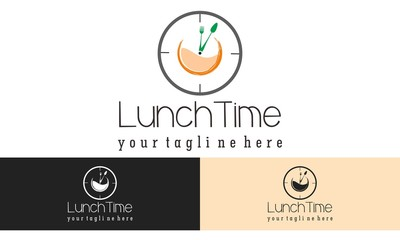 Lunch Logo Vector