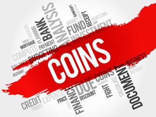COINS word cloud, business concept