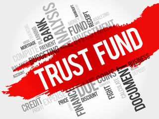 TRUST FUND word cloud, business concept