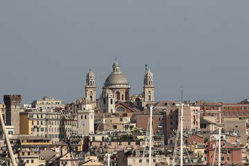 City and temple. Genoa, Italy