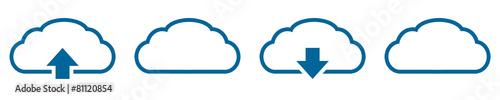Leinwandbild Motiv sap23 SeamlessAbstractPattern - cd1 CloudDesign - clouds - g3507