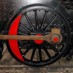 Rueda de tren antiguo