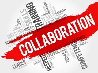 COLLABORATION word cloud, business concept