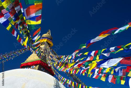 Staande foto Nepal Boudhanath Stupa, Kathmandu, Nepal