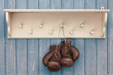 Old boxing gloves