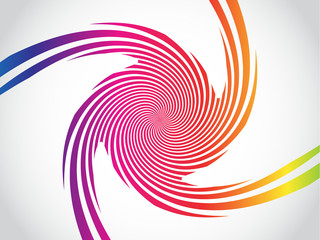 Abstract rainbow twist effect background