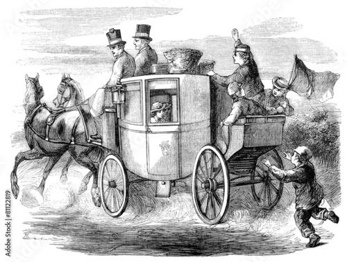 Leinwanddruck Bild Stagecoach