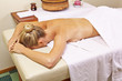 Woman in spa waiting for back massage