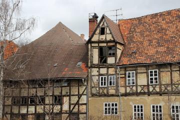Häuserruinen in Quedlinburg
