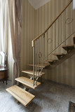 stairs in duplex bedroom apartment poster
