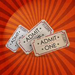 vector vintage ticket - admit one.