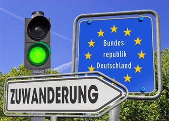 Zuwanderung BRD, Signal grün