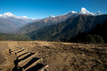 Hiking Trail on the Poon Hill Circuit, Nepal