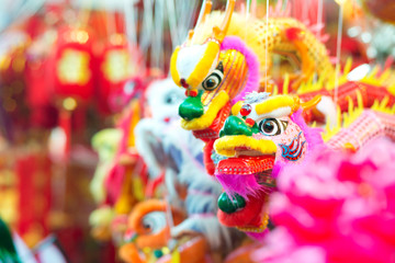 Dragon Puppets in Singapore's Chinatown.