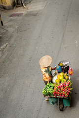 Fruit Bike Vendor, Hanoi Vietnam