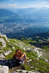Aussicht von einem Berggipfel aus