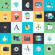 Set of flat design concept icons for graphic and web design