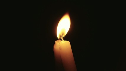Candles blown out in slow motion