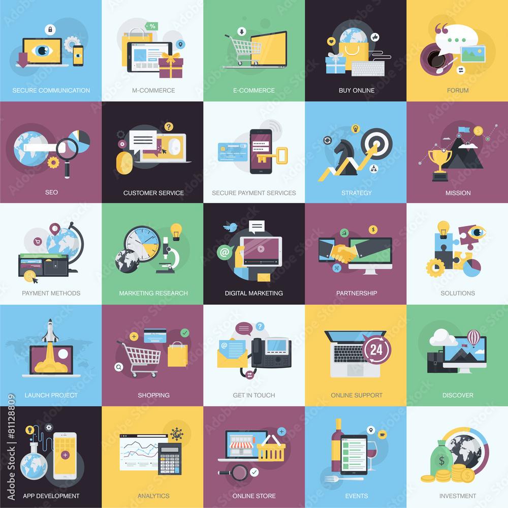 ikona zestaw www - powiększenie