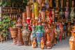 Beautiful handmade clay pots with arts - 81129224