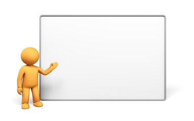 Teaching. 3D. Billboard
