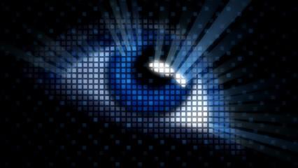 Human Eye. 3D. Biometrics