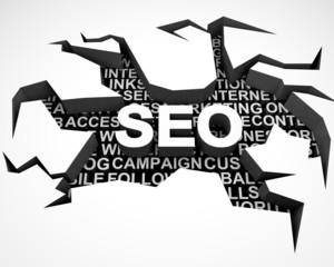 SEO. 3D. SEO - search engine optization