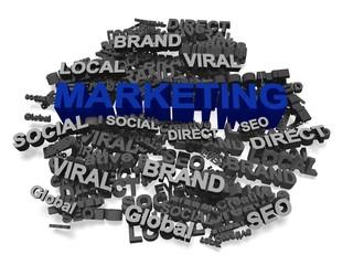 Marketing. 3D. Marketing concept