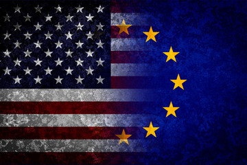 USA and EU flags.