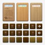 Fototapety Web Banner & Label Design #Wood Pattern