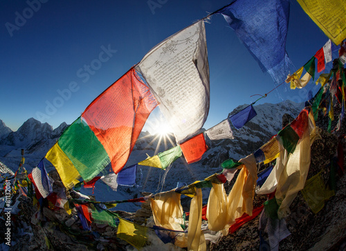 Tuinposter Alpinisme Everest Base camp, Nepal