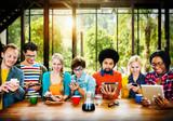 Casual Diversity Social Media Communication Concept