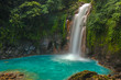 Leinwanddruck Bild - Beautiful Rio Celeste Waterfall