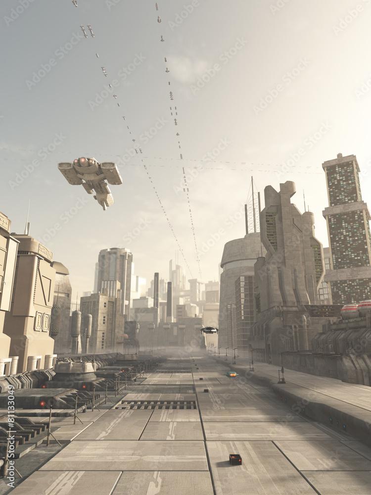 fikcja sci-fi przyszłość - powiększenie