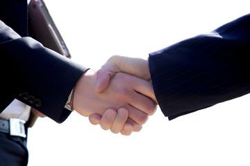 Handshake of business people isolated