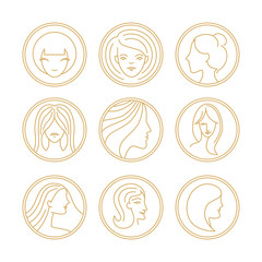 Vector women's logo design elements
