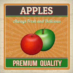 Apples retro poster