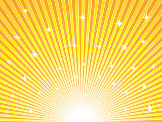 Abstract yellow and orange sunny background