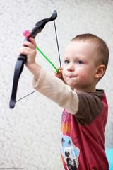 little beautiful child playing