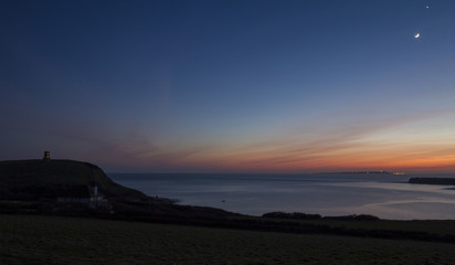 Dusk in Kimmeridge Bay