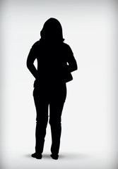 Black silhouette of a woman vector illustration