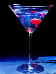 Cherry cocktail  on black background 29