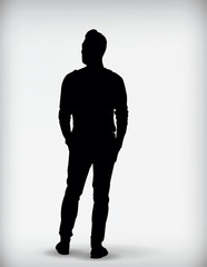 Black silhouette of a man vector illustration