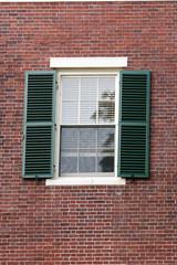 Black metal  Window in the Cambrige, Massachussets, US