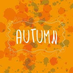Autumn handwriting