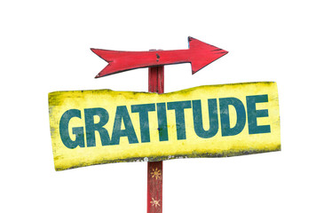 Gratitude sign isolated on white